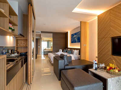 Luxury Beach Suite Hotel Room at The Bay and Beach Club Phuket