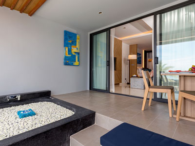Luxury Beachfront Suite Hotel Room at Kudo and Beach Club Phuket