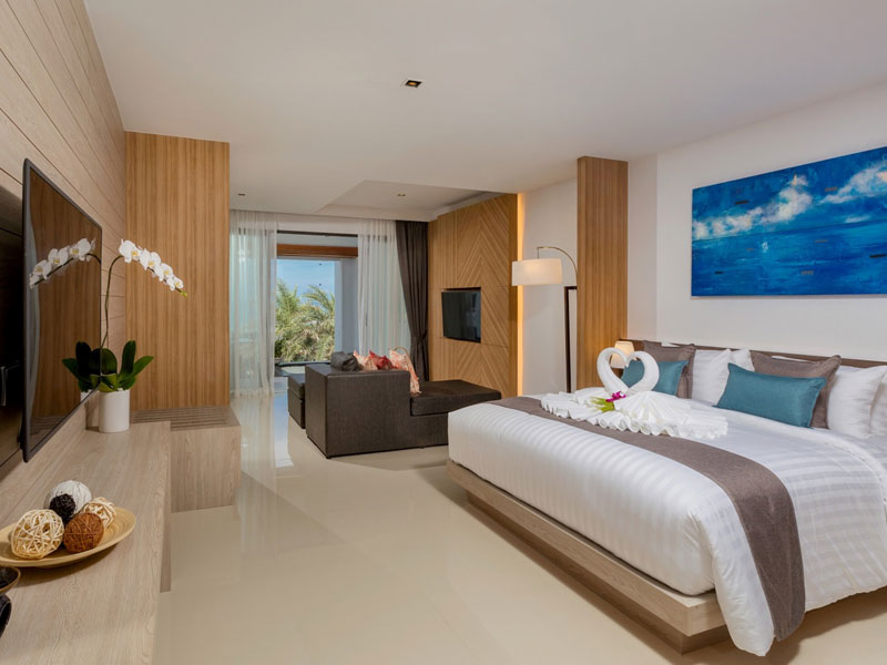 Luxury Beachfront Suite Hotel Room at The Bay and Beach Club Phuket
