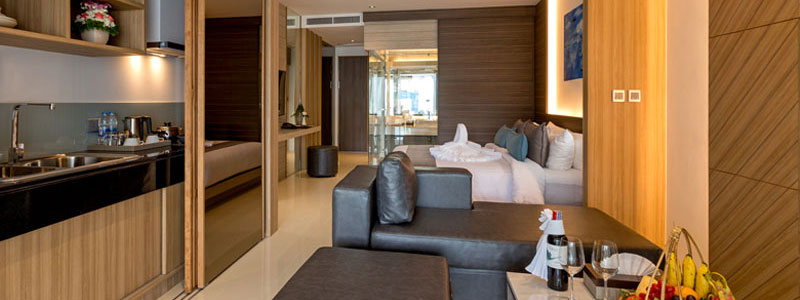 Luxury Pool and Beach Suite Hotel Room at The Bay and Beach Club Phuket